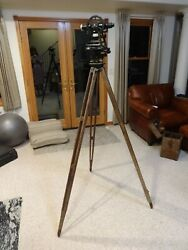 Antique W.and L.e. Gurley Surveyor's Transit With Case And Tripod, Troy Ny