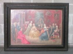 Antique Large Painting Painting Venetian Oil On Canvas Period End Xix Century