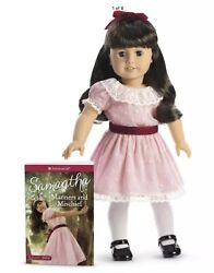 American Girl Samantha Doll Book Pink Dress Tights Shoes Brown Beforever New