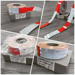 Dot-c2 Reflective Conspicuity Tape 2 X 150and039 Red And White For Truck And Trailers