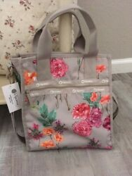 Lesportsac Small North South Tote Recycled Collection ROSE GARDEN NWT $75.99