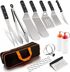 Blackstone Griddle Barbecue Accessories Tool Set 12pcs, Bbq Gas Hibachi Cooking