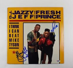 Will Smith Fresh Dj Jazzy Jeff Autographed Signed Album Lp Record Psa/dna