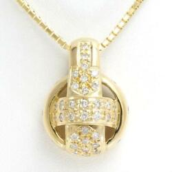 Jewelry 18k Yellow Gold Necklace Diamond Total0.71 Free Shipping Used