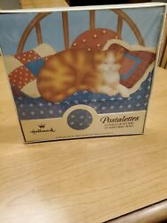 12 Unopened Hallmark Postalettes- Cat Napping Bed- W/seals, Vintage Fold Up