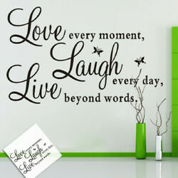 Removable Wall Sticker Quote Words Love Butterfly Decal Room Home Wall Decor US