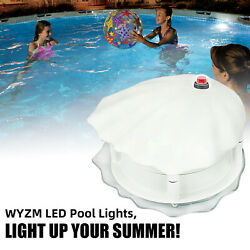 Ip68 Led Pool Light For Above Ground,dusk To Dawn,auto-on At Night 120v-rgbw