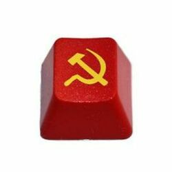 Soviet Union Hammer And Sickle Double Shot Abs Keycap Brand New Awesome Red Gloss