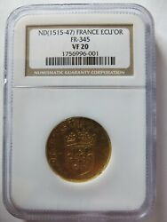 France 1515 France Gold Ecuand039or Ecuor Ngc Vf20 French Coin Fr 345