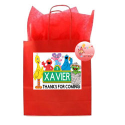 12 Custom Sesame Street Birthday Party STICKERS Personalized for Favor Bags $4.50