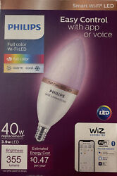 Color Tunable White B12 Led 40w Equivalent Dimmable Smart Wi-fi Wiz Led 922-65
