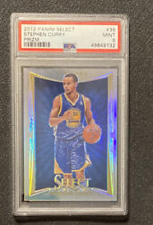2012-13 Panini Select Stephen Curry Silver Prizm Psa 9 Golden State Warriors