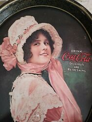 Coca Cola Betty Serving Metal Tray Delicious And Refreshing Drink Vintage