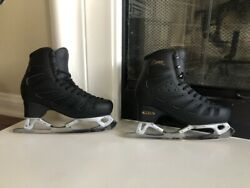 Edea Black Piano Skating Boots 250 C With Gold Seal Rev Blades 9.25 In