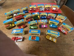 Collection Of 22 Old Matchbox Superfast Diecast Cars - 95+ Mint In Boxes 1960's