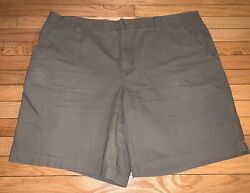 Ll Bean Pathfinder Comfort Waist Natural Fit Olive Gray Stretch Chino Shorts 44
