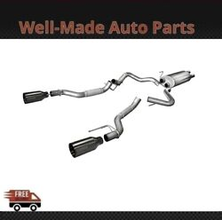 Corsa 304 Ss Cat-back Exhaust System Split Rear Exit For 17-19 F-150 14397gnm