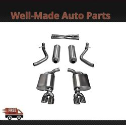 Corsa 304 Ss Cat-back Exhaust System Quad Rear Exit For 11-17 Challenger 14986