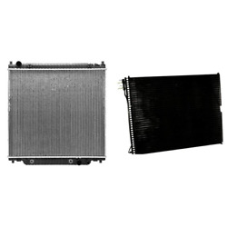 Radiator And A/c Condenser Kit For Ford Excursion F-250 Super Duty