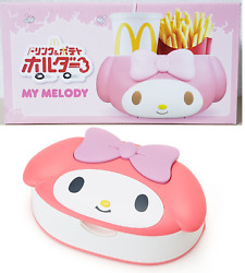 My Melody Mcdonald's Drink And Potato Holder Sanrio Limited Car And Wet Tissue Set