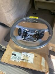 Nos 1999 2000 2001 Ford Mustang Grey Leather Steering Wheel Two Tone New Oem V2