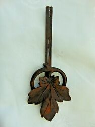 Genuine Antique Cuckoo Clock Pendulum Leaf With Stick For Project
