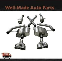 Corsa 304 Ss Cat-back Exhaust System With Quad Rear Exit For 18-21 Jeep 21051