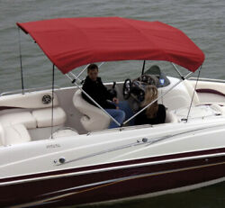 Shademate 80289 Bimini Poly Top And Boot 67-72w X 8andrsquol X 42andrdquoh Red-ship24hrs