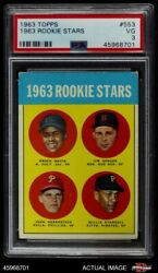 1963 Topps 553 Willie Starge Colt 45s / Red Sox / Phillies / Pirates Psa 3 - Vg