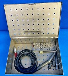 Hall E9010 Coolflex High Speed Drill Handpiece W/ Bur Guards And Burs Orthopedic