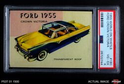 1954 Topps World On Wheels 180 Ford Crown Victoria 1955 Red Back Psa 4 - Vg/ex