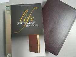 New Life Application Study Bible New American Standard Burgundy Bonded Leather