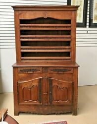 French Antique Renaissance Cupboard Vaisselier Cabinet 1700s China Display