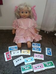 Vintage 1986 Playmates Cricket Talking Doll With 14 Tapes Pink Dress