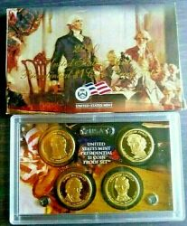 Us Mint S 2010 4 Coin Presidential 1 Coin Proof Set Original Mint Packaging/coa