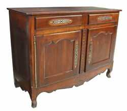 Antique French Louis Xv Provincial Fruitwood Sideboard Hutch Chest Cabinet 1800s