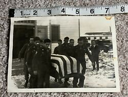 Original Wwii Photo 505th Pir Funeral Fort Bragg 82nd Airborne Division Army