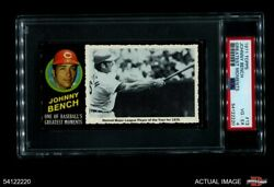 1971 Topps Greatest Moments 13 Johnny Bench Reds Psa 4 - Vg/ex