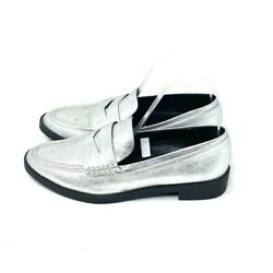 A New Day Silver Penny Loafers Women's Size 7.5