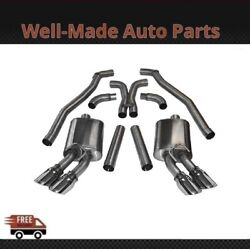 Corsa 304 Ss Cat-back Exhaust System With Quad Rear Exit For 10-15 Camaro 14971