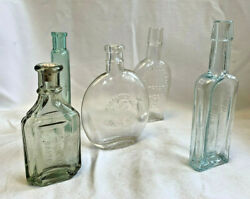Vtg Lot Of 5 Mccormick And Co, Glass Bottles Baltimore Maryland Extracts Spices