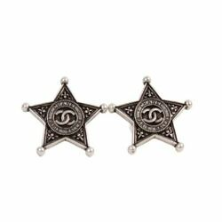 Silver Fall 2014 Dallas Sheriff Star Stud Earrings
