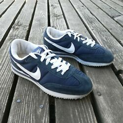 Vintage 2003 Nike Cortez 72 Retro Nylon Shoes Blue White Swoosh Womens Sz 7 Rare