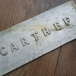 Antique Metal House Name Sign Cartref Home Welsh 10 Inch X 3.5 Inch Plate Plaque