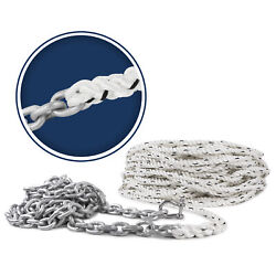Windlass Anchor Rope Nylon 3 Strand 9/16in X 250ft With Galv G4 Ht 5/16 X 20ft