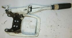 Omc Brp Johnson Evinrude Oem 1968-1977 6 Hp White Tiller Handle And Bracket And Gear