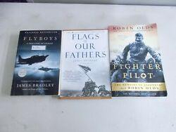 3 Wwii Nonfiction Memoirs Legendary Ace Robin Olds Flags Fathers Flyboys Trade