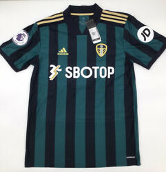 Leeds United Away Jersey 2020/2021 Adidas Green Xs-2xl New With Tags