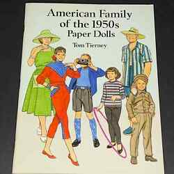 Vintage American Family Of The 1950s Paper Dolls In Full Color Tom Tierney