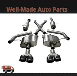 Corsa 304 Ss Cat-back Exhaust System With Quad Rear Exit For 18-21 Jeep 21051blk